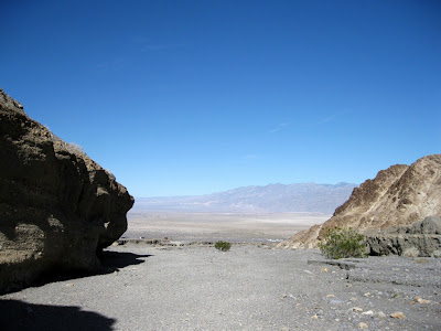View at mouth of Mosaic Canyon Death Valley National Park California