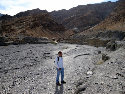Jeremy at the mouth of Mosaic Canyon Death Valley National Park California