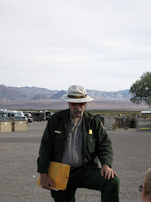 Ranger Glenn at Stovepipe Wells campground Death Valley National Park California