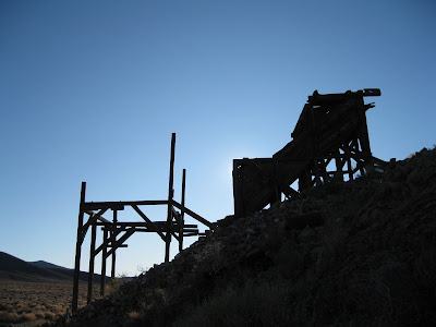 Mill ruin Eureka mine Death Valley National Park California