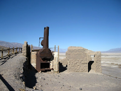 Boiler at refinery Harmony Borax Works Death Valley National Park California