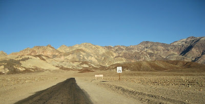 On the road to Artists Drive Death Valley National Park California