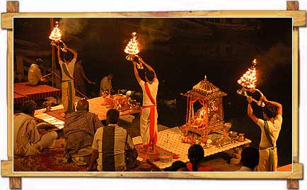 Ganga Aarti on the Ganga Ghat in Varanasi