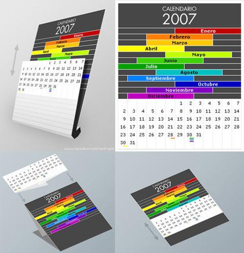 Desain Kalender Yang Unik