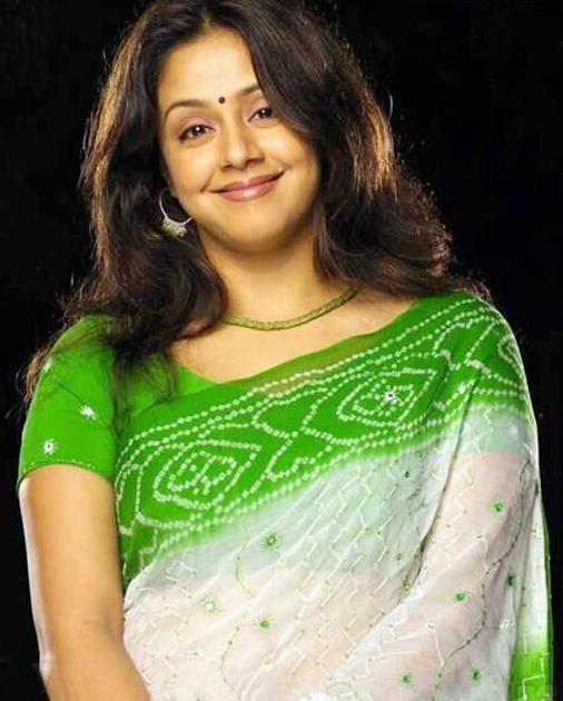 Jyothika In Bhandhini Saree