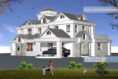 Kerala Style Home Elevation