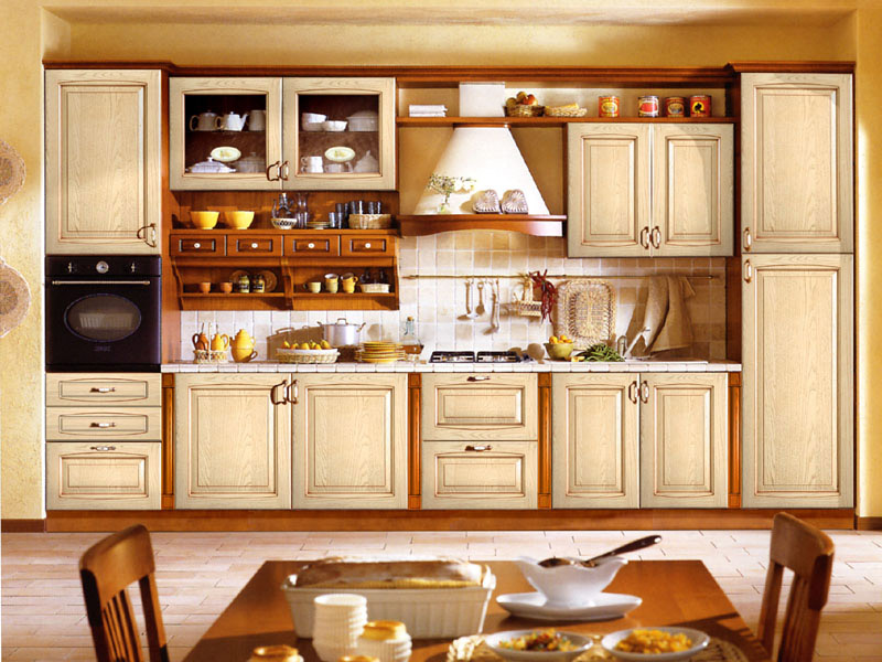 Kitchen cabinet designs 13 photos kerala home design - Kitchen built in cupboards designs ...