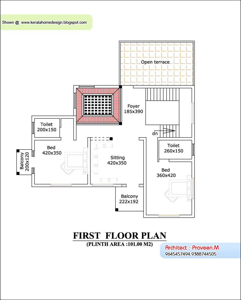 1st Floor Elevation Kerala : Office furniture plan and elevation sq feet