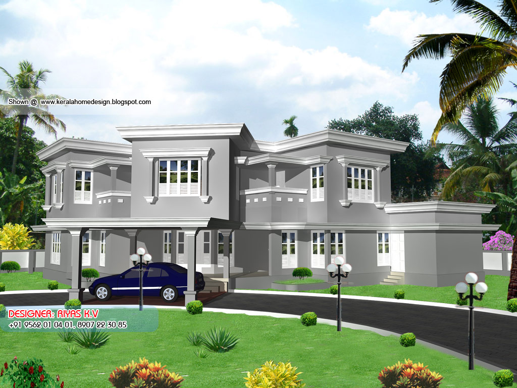Kerala home plan and elevation 3604 sq ft home appliance for Kerala home elevation images