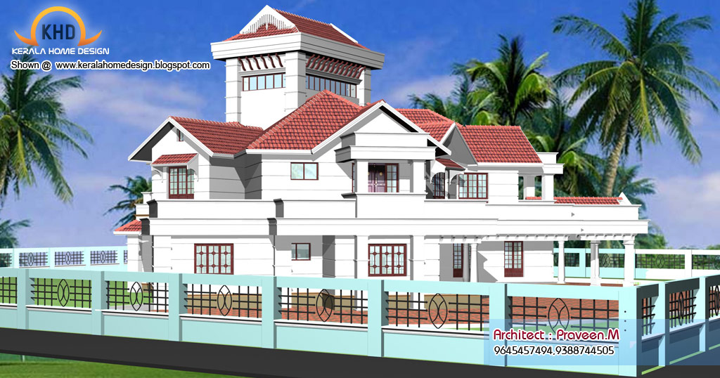Home plan and elevation 6544 sq ft kerala house for Plans d arkitek