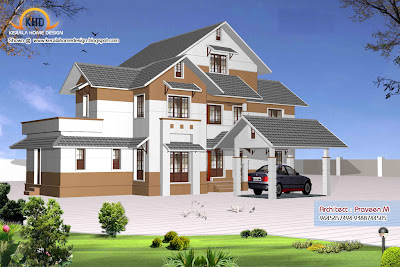 Home plan and elevation - 2906 Square Feet