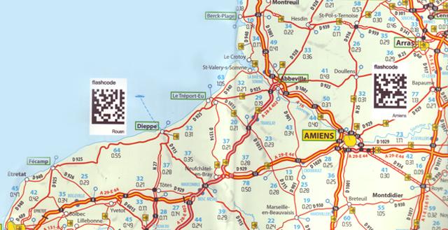 mobiletag blog: Carte de France Michelin avec flashcodes