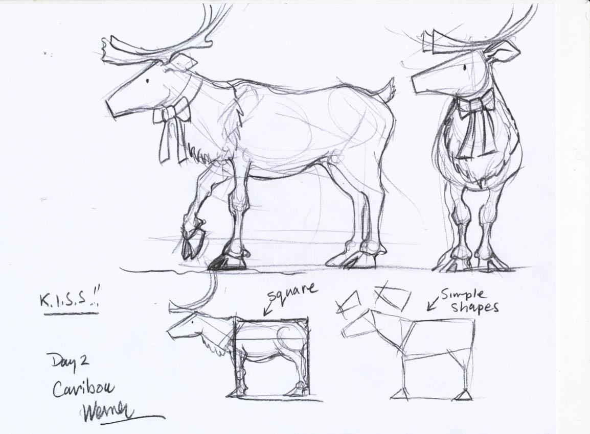 Caribou Drawing
