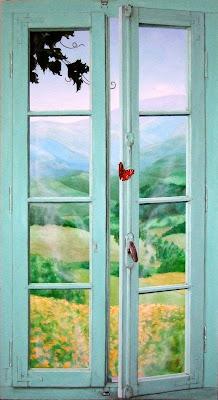 Peinture Trompe Loeil Et Portraits Fausse Fenêtre