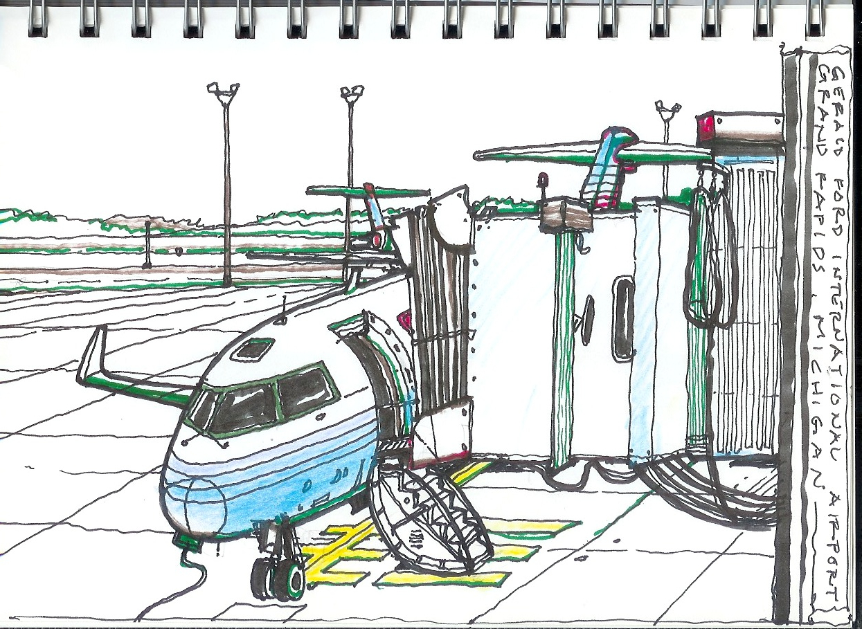 Drawing On The World Gerald Ford International Airport