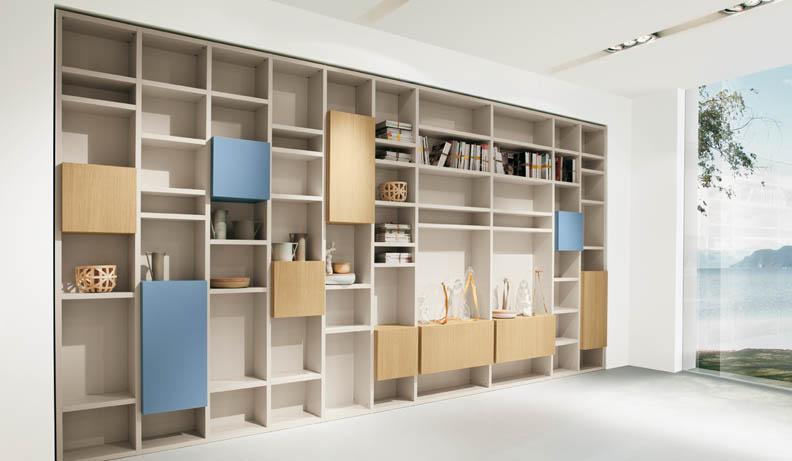 Estanter as de dise o customizadas con ikea lack - Ikea estanterias lack ...