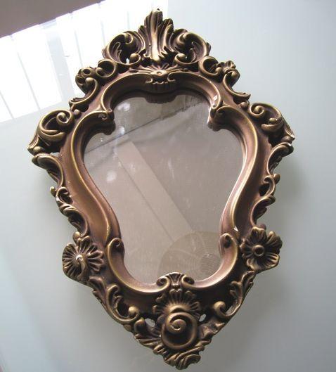 Antes y despu s un peque o espejo barroco ministry of deco for Pintar marco espejo