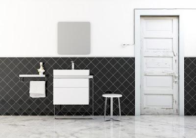 azulejos colocados en diagonal