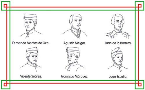 Niños Heroes Para Colorear Con Nombres Imagui