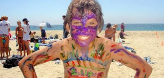 Face (or should we say body?) painting at Aloha Beach Camp Summer Camp
