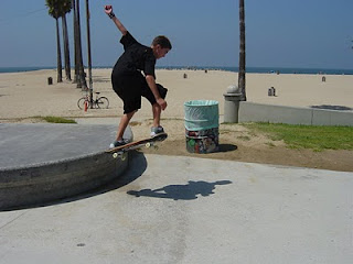 Skateboarding at Venice Beach on a glorious summer day