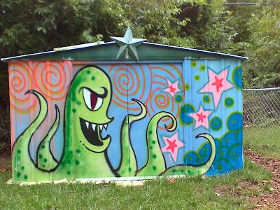 Prairie Thistle Chris Oldham  Spray Paint Mural