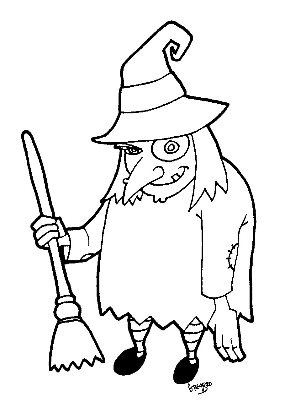 Dibujos Halloween Para Colorear Para Niñosbrujas Cosas Para Niños
