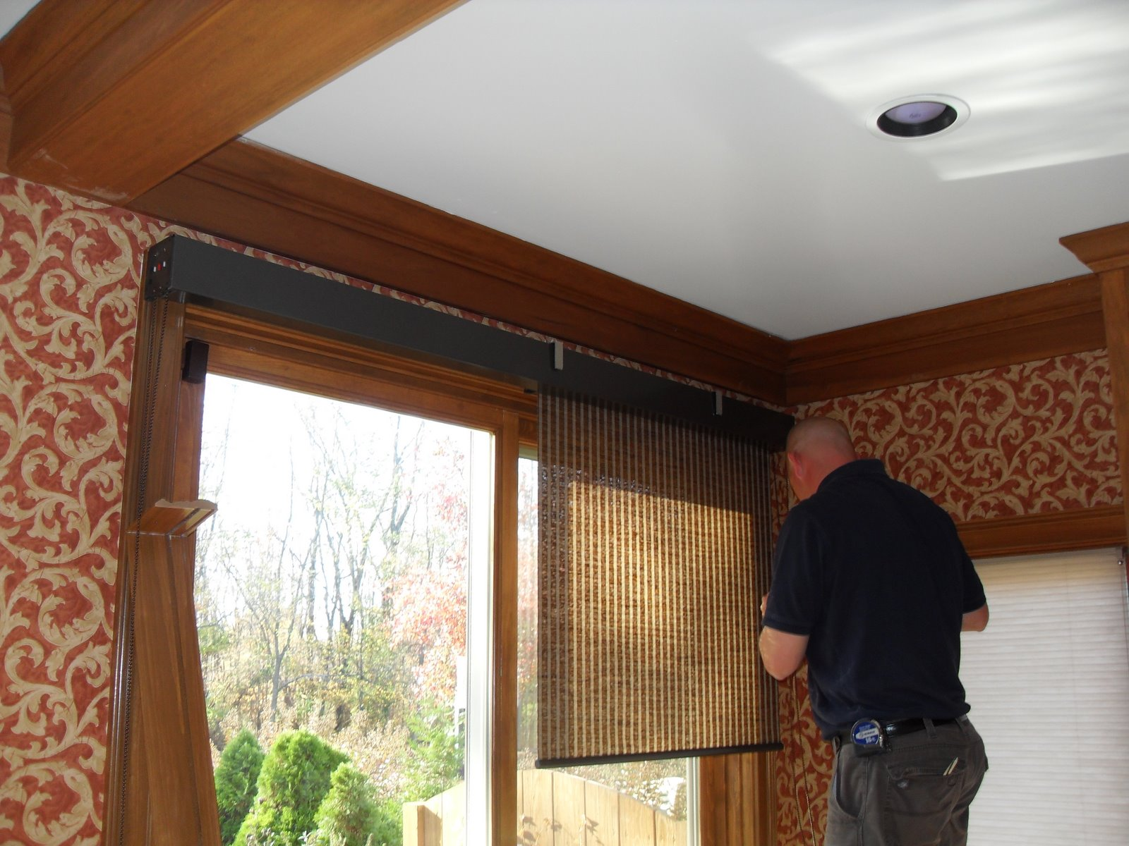 Louisville Blinds And Drapery Patio Doors With Roller Shades