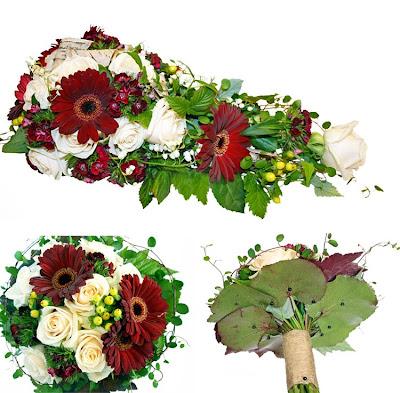 0c08bd6162ca holmsunds blommor: Brudbukett i cremefärgat och burgundy