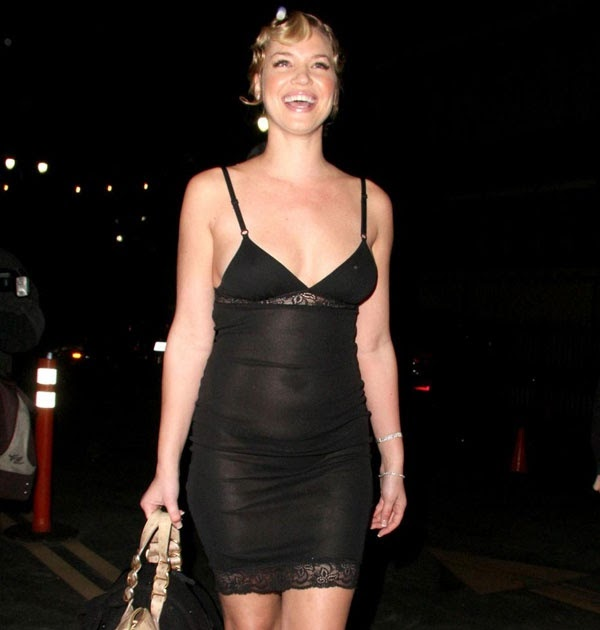 Watt-up: Ashley Scott See-through Sheer Dress