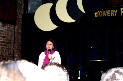 "Roxanne reciting ""The Family Pet"" at Total Eclipse, The 2005 Annual Alternative Spoken Word Extravaganza at the Bowery Poetry Club"