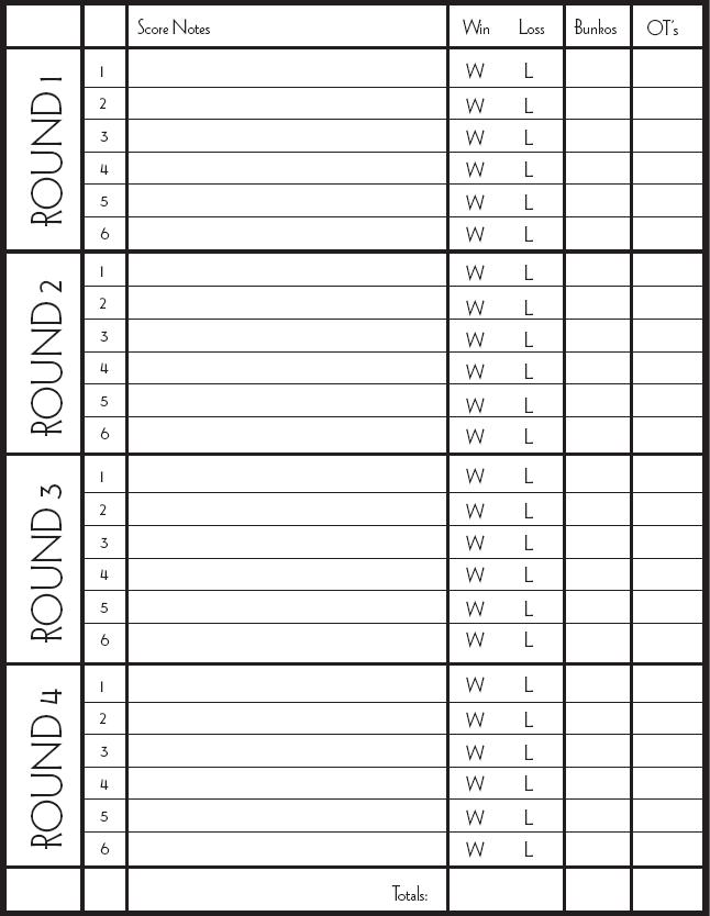All categories aplusgame for Free bunco scorecard template