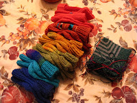 Afghan squares and baby hats and socks ready to ship