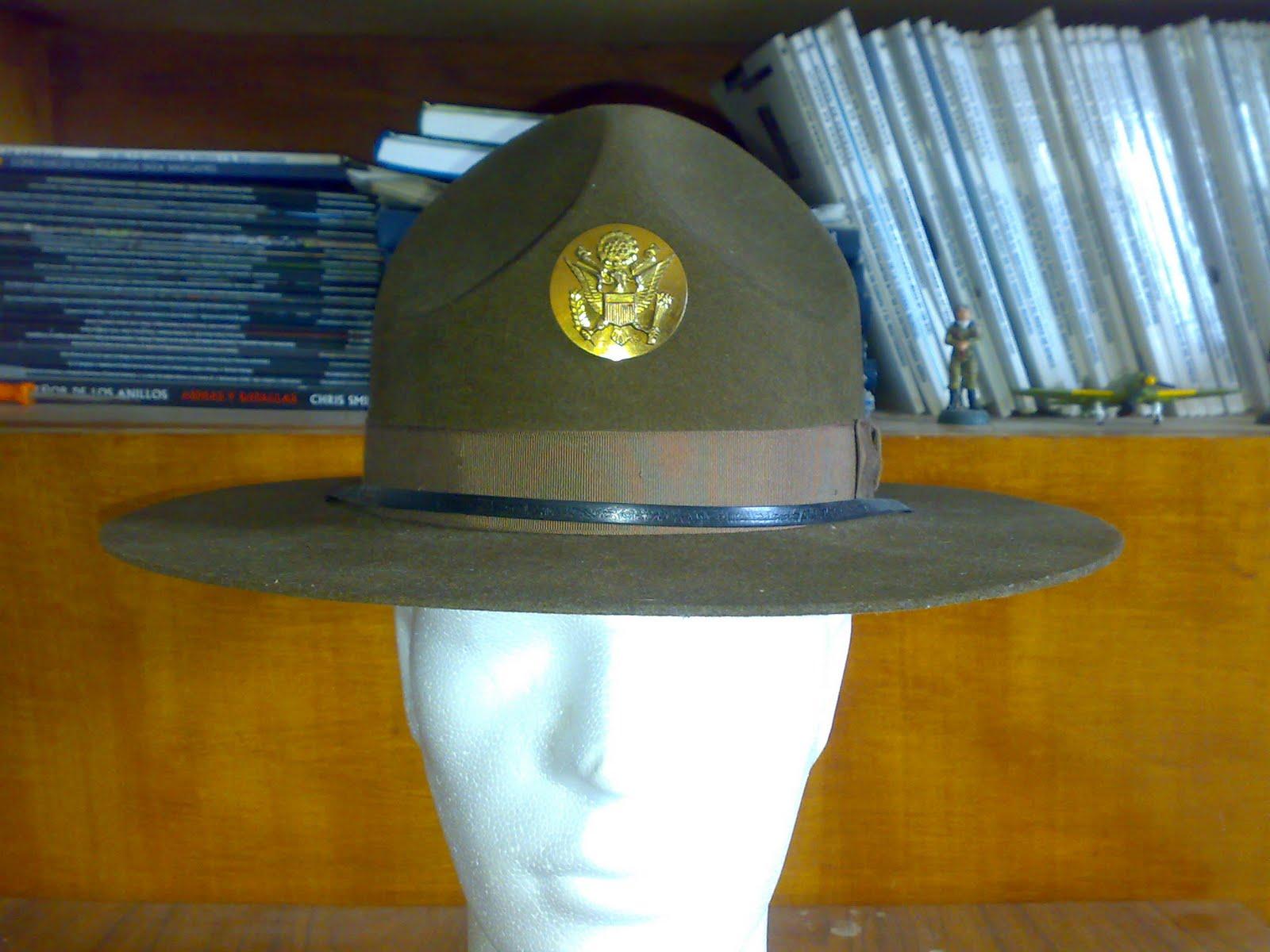 20e66a88725a6 MI FRIKARIUM  COLECCIONISMO MILITAR  SOMBRERO DE SARGENTO INSTRUCTOR ...