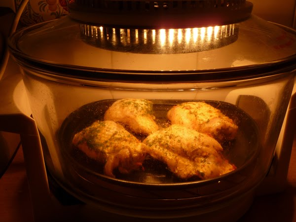 How to cook roast chicken in a halogen cooker
