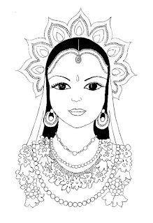 ROSTOS DE INDIANAS Desenhos e