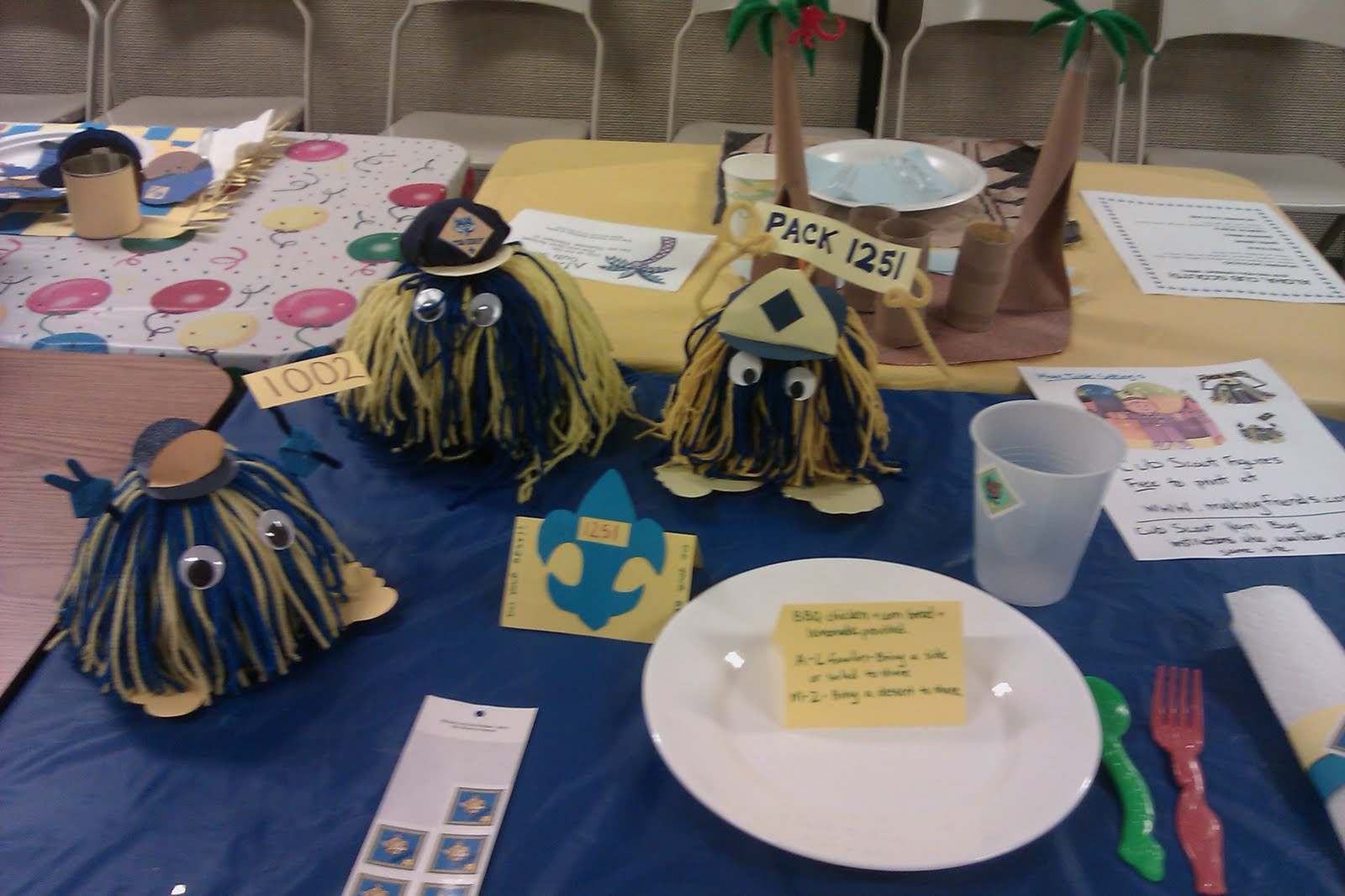 Pony Express District Cub Scouts Blue Amp Gold Table
