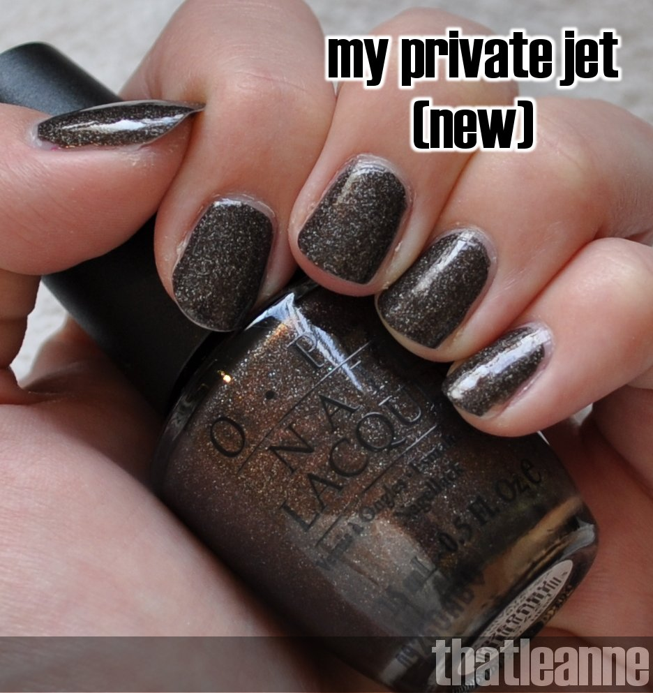 thatleanne: OPI My Private Jet Original and New Comparison