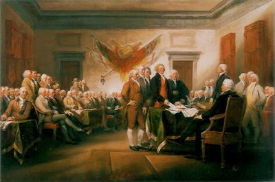 Trumbull's Signing of the Declaration of Independence