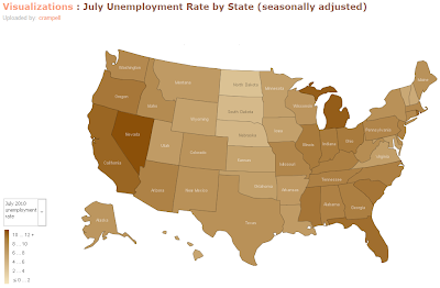 crampell: July 2009 Unemployment Rate by State (seasonally adjusted)