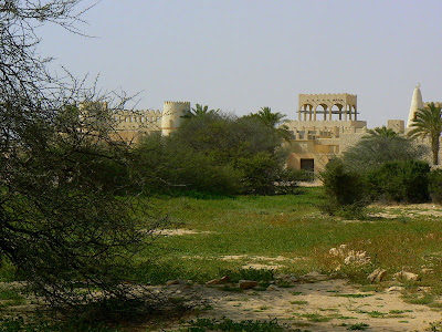 The oasis in the Abrouq nature reserve where the attack took place