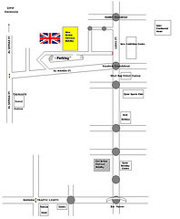 British embassy map