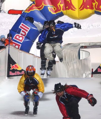 A jump in the Red Bull event.