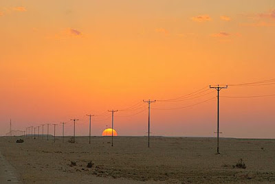 One of Qatar's superb sunsets.