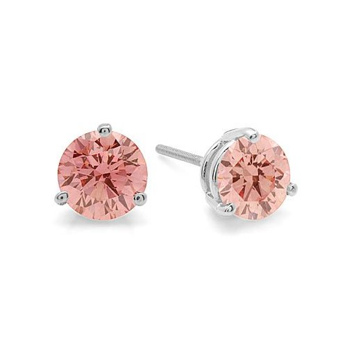 Pink Diamond Earring Studs