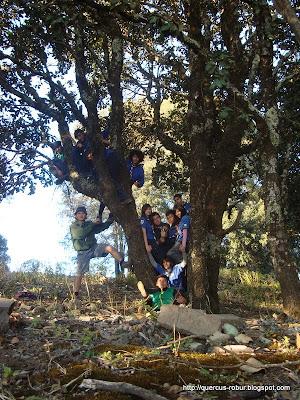 Foto en el árbol de los recuerdos en Cerro Viejo