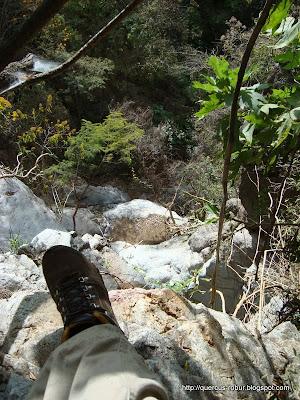 Cascada de 70 metros en el arroyo Piedras Blancas