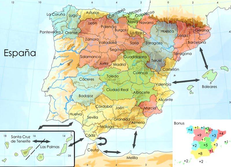 Mapa De España Con Sus Provincias.Ambisocilingkarla Mapa De Espana Y Sus Provincias