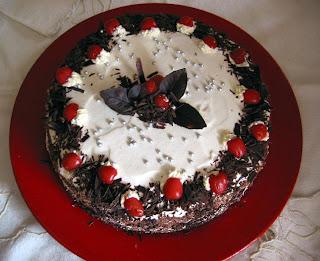 Birthday Cake Schwarzwaelder Kirsch Torte With Candles