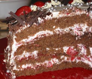 German Birthday Cherry Cake Svhwarzwaaderkirchtorte